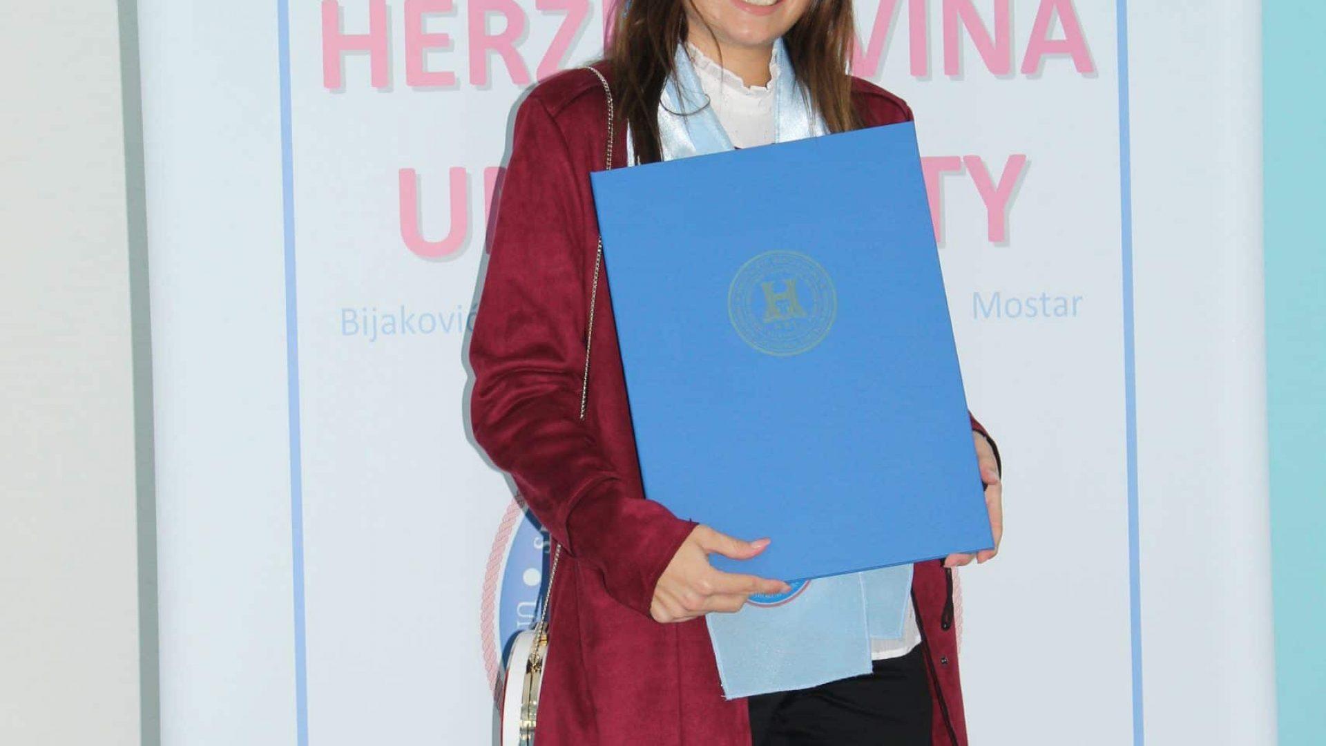 Na Sveučilištu Hercegovina održana individualna dodjela diploma